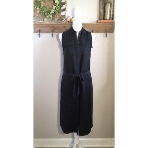 Equipment Tegan Silk Dress Chevron Black Work